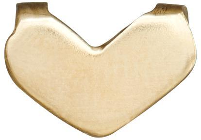 Heart Spacer Charm - 14k Yellow Gold - Jewelry - Helen Ficalora - 1