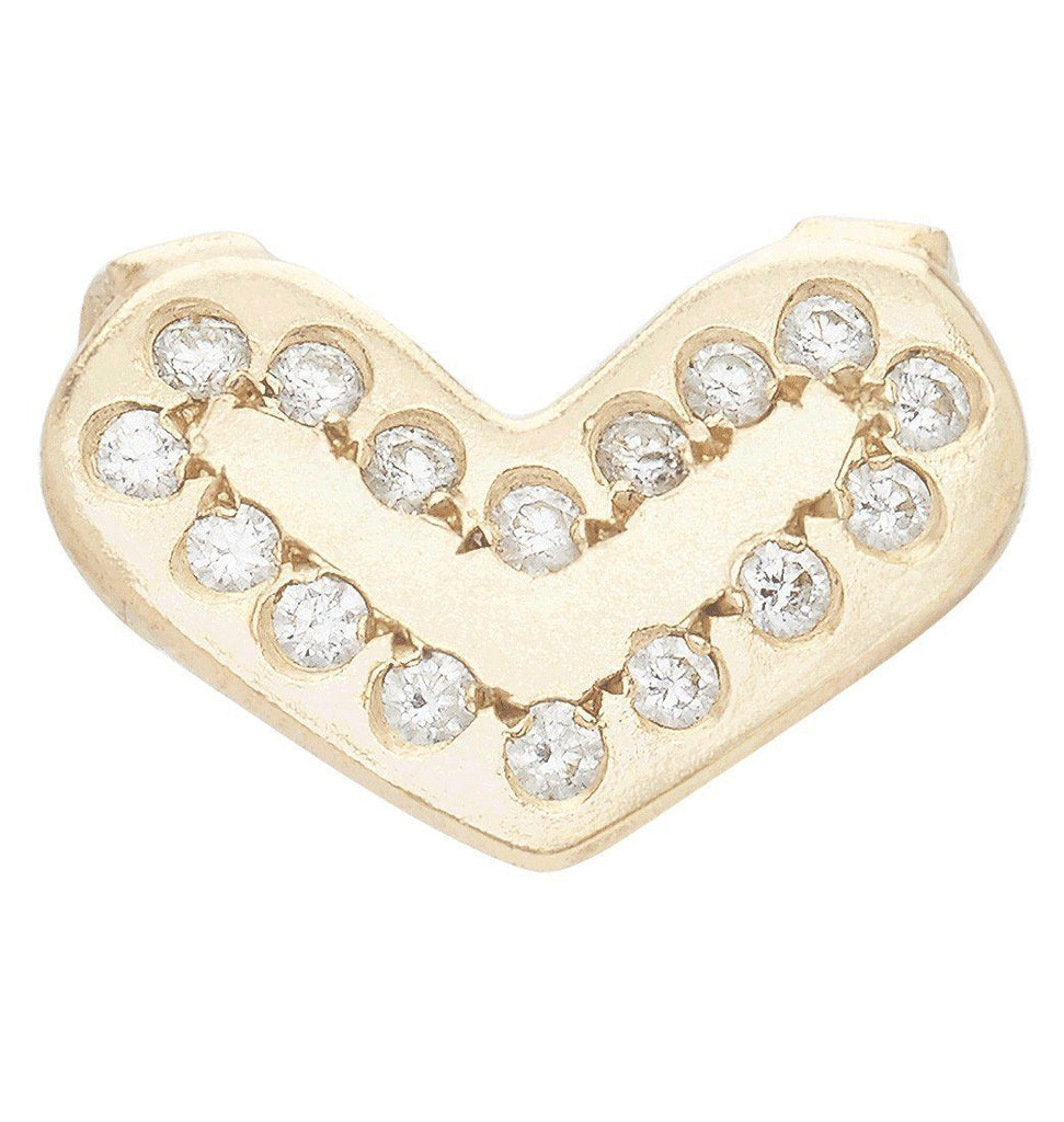 Heart Spacer Charm With 16 Diamonds Jewelry Helen Ficalora 14k Yellow Gold
