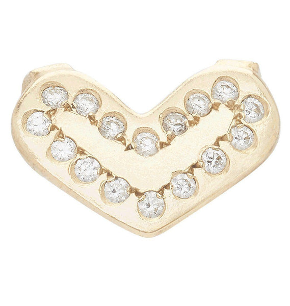 Jewelry - Heart Spacer Charm With 16 Diamonds