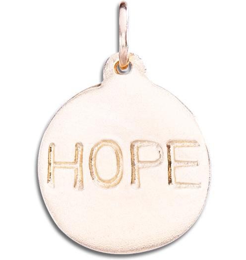 """Hope"" Disk Charm - 14k Pink Gold - Jewelry - Helen Ficalora - 3"