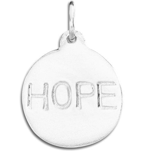 """Hope"" Disk Charm - Sterling Silver - Jewelry - Helen Ficalora - 4"
