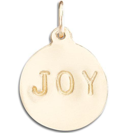 """Joy"" Disk Charm - 14k Yellow Gold - Jewelry - Helen Ficalora - 1"