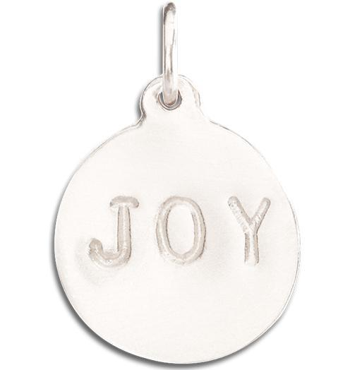 """Joy"" Disk Charm - 14k White Gold - Jewelry - Helen Ficalora - 2"