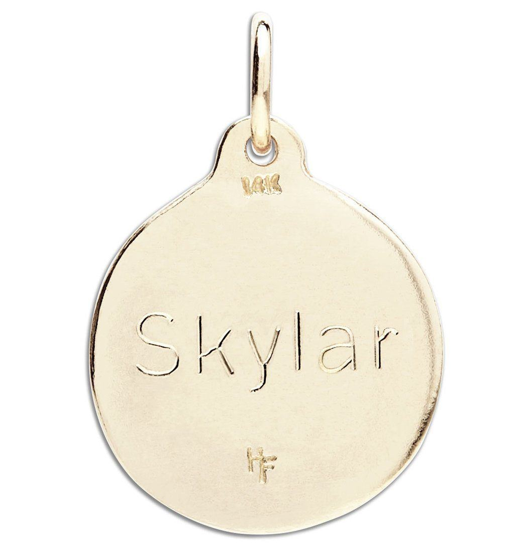"""K"" Alphabet Charm With Diamond Jewelry Helen Ficalora"