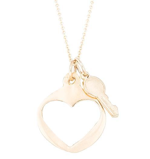 Key To My Heart - 14k Yellow Gold - Jewelry - Helen Ficalora