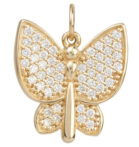 Jewelry - Large Butterfly Charm Pave Diamonds
