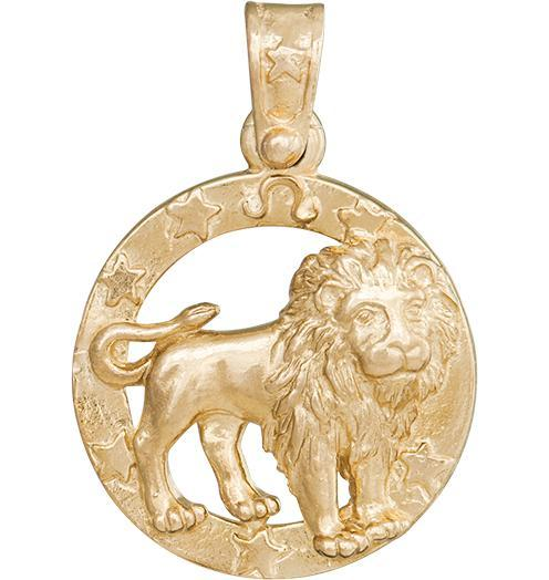 Large Leo Zodiac Charm - 14k Yellow Gold - Jewelry - Helen Ficalora - 1