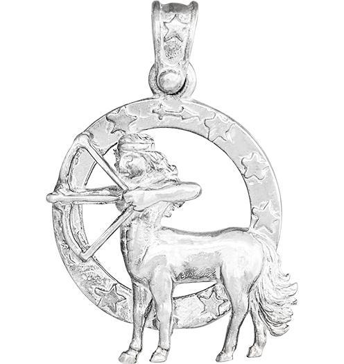 Large Sagittarius Zodiac Charm - Sterling Silver - Jewelry - Helen Ficalora - 4