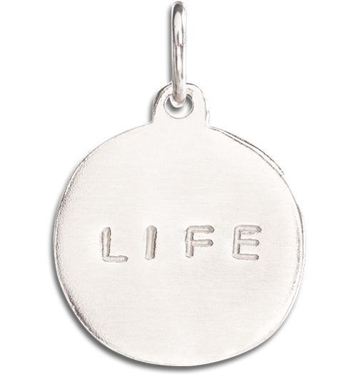 """Life"" Disk Charm - 14k White Gold - Jewelry - Helen Ficalora - 2"