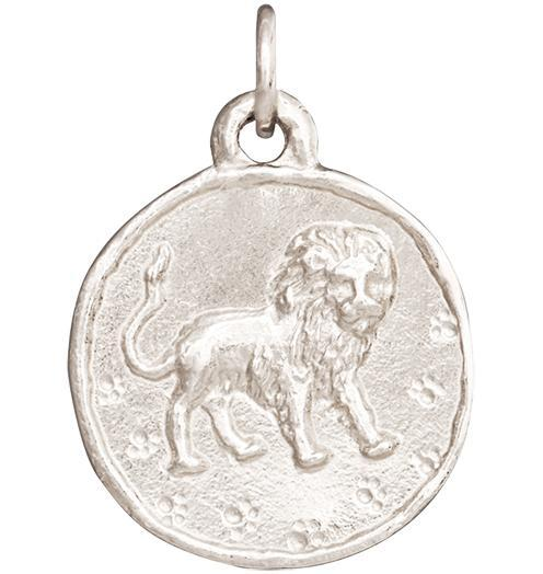 Lion Coin Charm - 14k White Gold - Jewelry - Helen Ficalora - 2