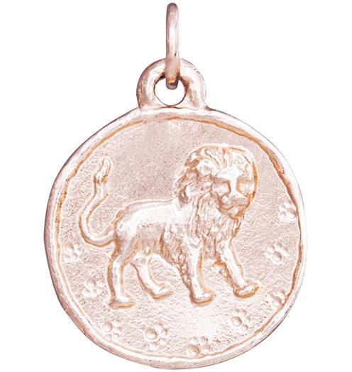 Lion Coin Charm - 14k Pink Gold - Jewelry - Helen Ficalora - 3