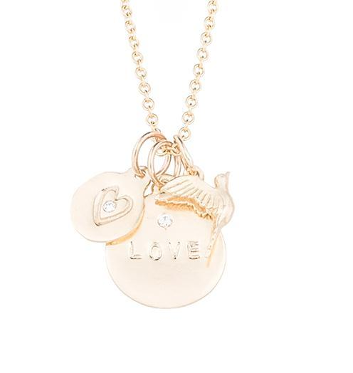 Love Takes Flight - 14k Yellow Gold - Jewelry - Helen Ficalora