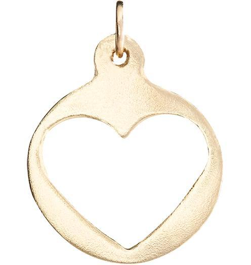 Medium Heart Cutout Charm - 14k Yellow Gold - Jewelry - Helen Ficalora - 1