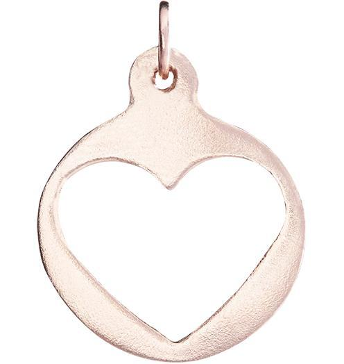 Medium Heart Cutout Charm - 14k Pink Gold - Jewelry - Helen Ficalora - 3