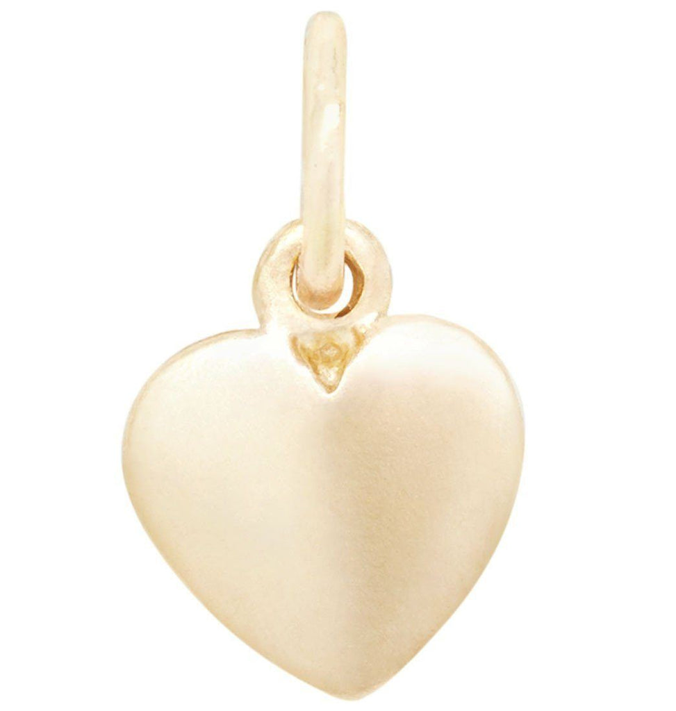 Medium Puffy Heart Charm Jewelry Helen Ficalora 14k Yellow Gold