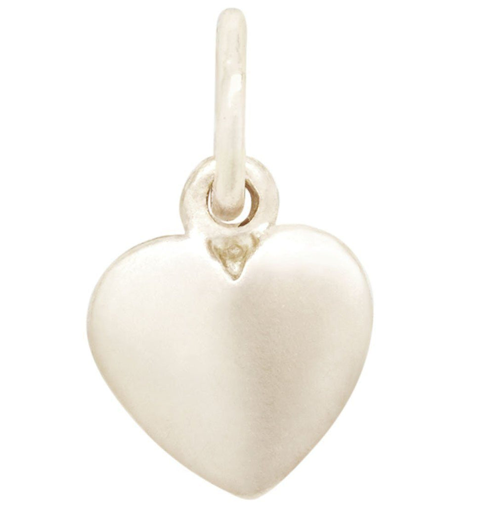 Medium Puffy Heart Charm Jewelry Helen Ficalora 14k White Gold