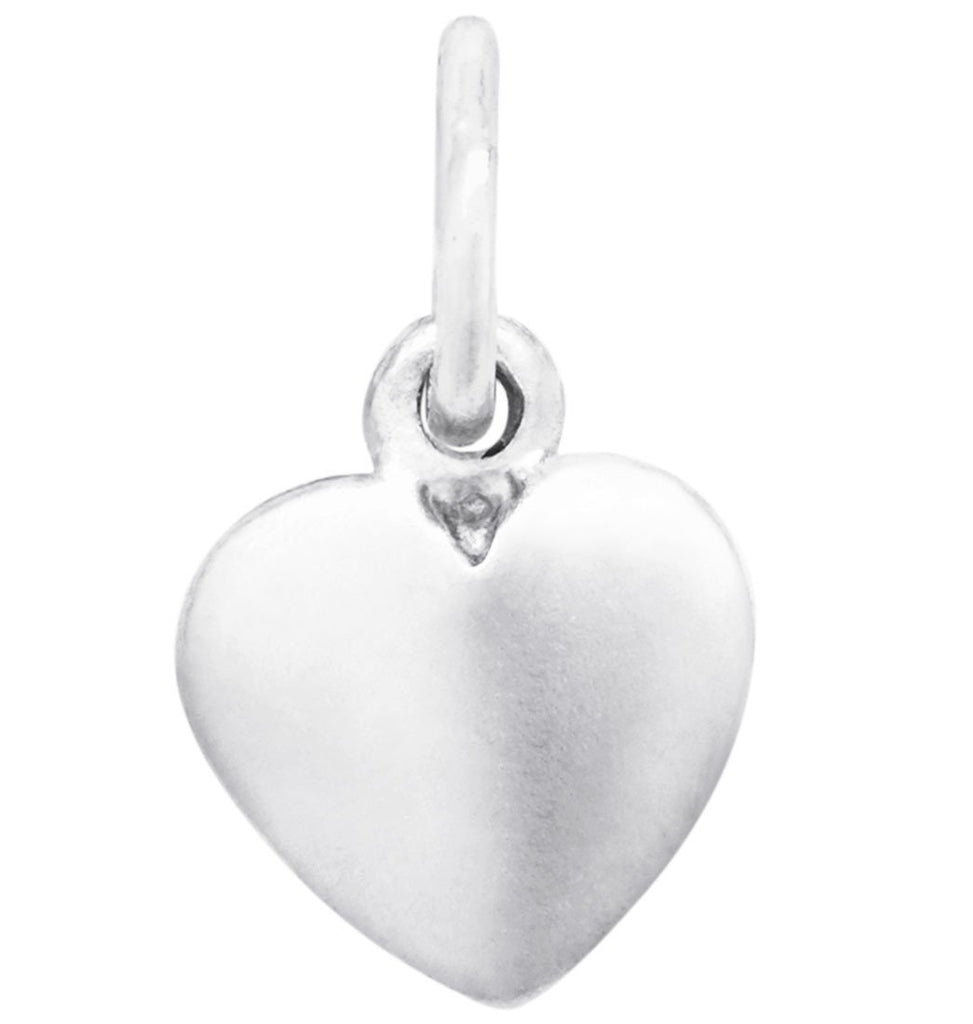 Medium Puffy Heart Charm Jewelry Helen Ficalora Sterling Silver