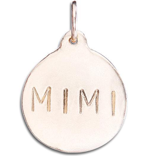 """Mimi"" Disk Charm Jewelry Helen Ficalora 14k Pink Gold"