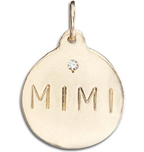 """Mimi"" Disk Charm With Diamond - 14k Yellow Gold - Jewelry - Helen Ficalora - 1"