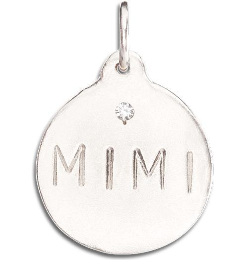 """Mimi"" Disk Charm With Diamond - 14k White Gold - Jewelry - Helen Ficalora - 2"