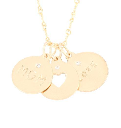 Mom Heart Love - 14k Yellow gold - Jewelry - Helen Ficalora