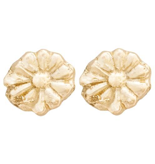 Montauk Daisy Stud Earrings Jewelry Helen Ficalora 14k Yellow Gold