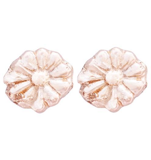 Montauk Daisy Stud Earrings Jewelry Helen Ficalora 14k Pink Gold