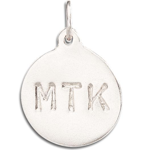 """MTK"" Disk Charm - 14k White Gold - Jewelry - Helen Ficalora - 2"