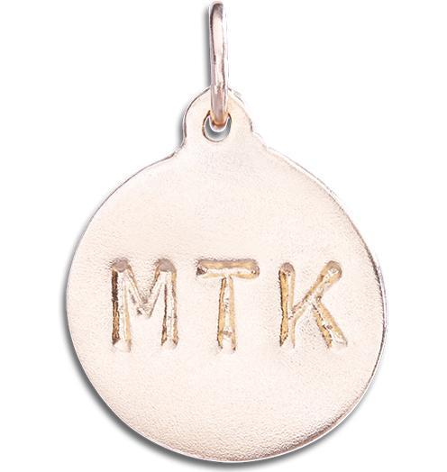 """MTK"" Disk Charm - 14k Pink Gold - Jewelry - Helen Ficalora - 3"