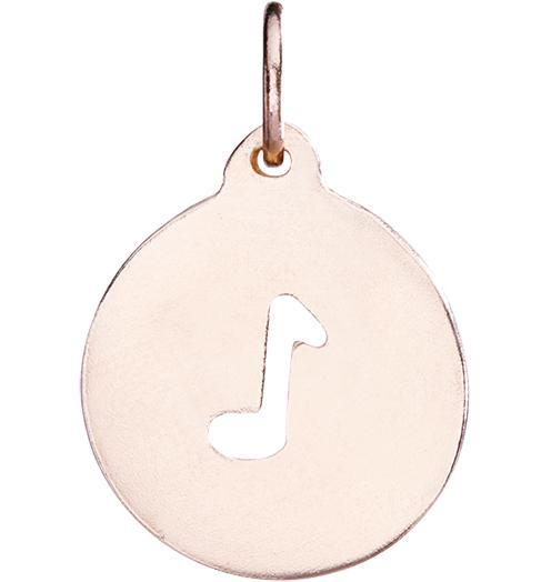 Music Note Cutout Charm - 14k Pink Gold - Jewelry - Helen Ficalora - 3