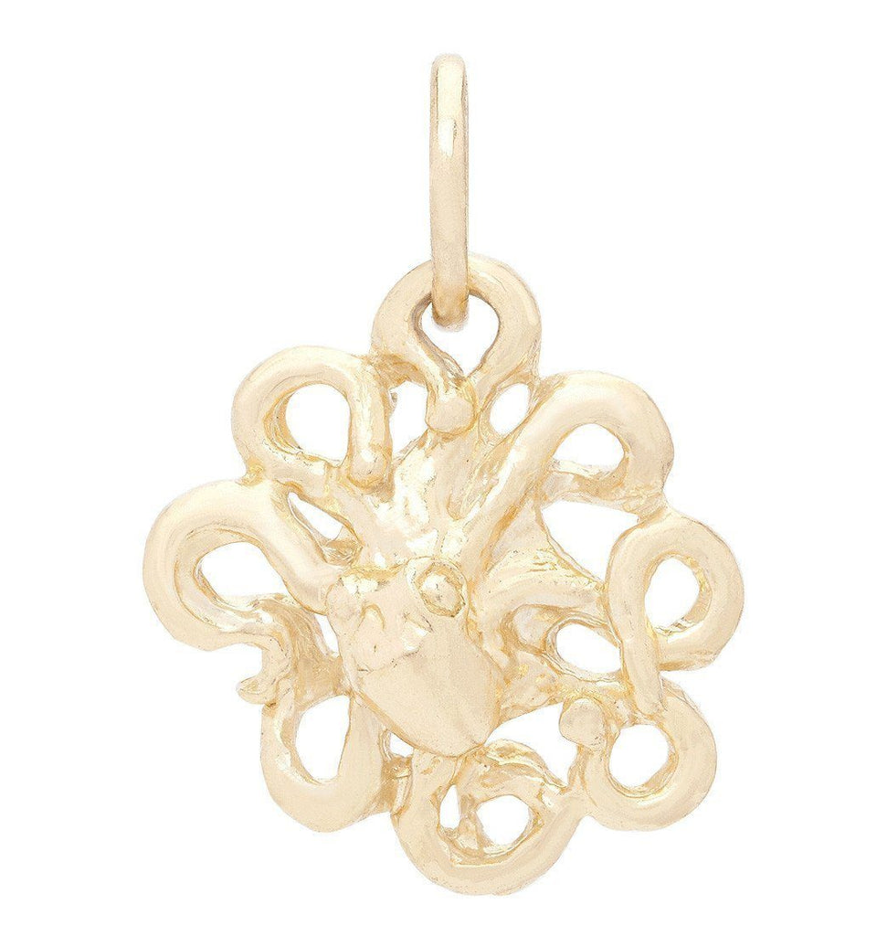 Octopus Mini Charm Jewelry Helen Ficalora 14k Yellow Gold