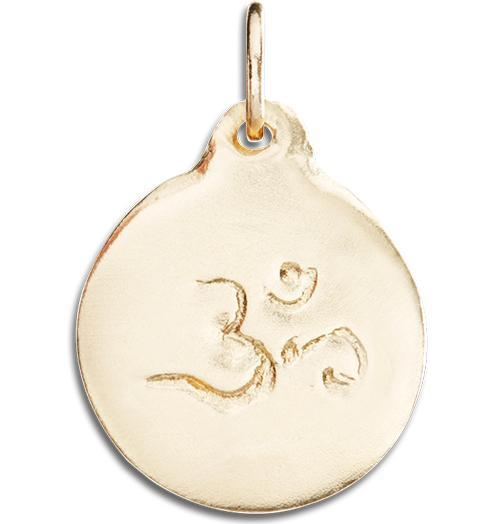 Om Disk Charm - 14k Yellow Gold - Jewelry - Helen Ficalora - 1