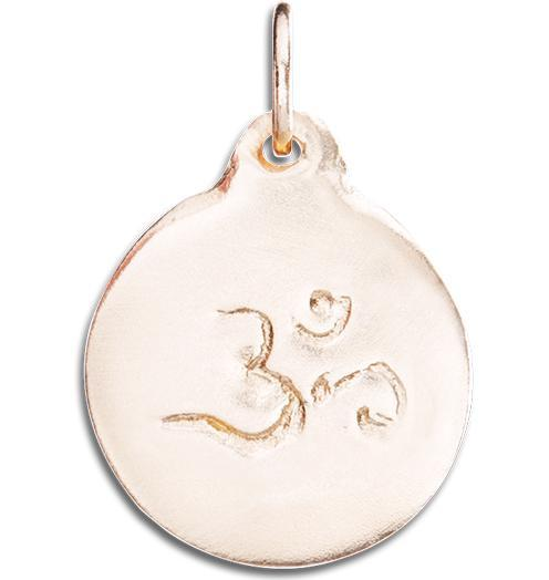 Om Disk Charm - 14k Pink Gold - Jewelry - Helen Ficalora - 3