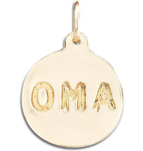 """Oma"" Disk Charm - 14k Yellow Gold - Jewelry - Helen Ficalora - 1"