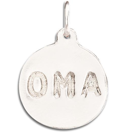 """Oma"" Disk Charm - 14k White Gold - Jewelry - Helen Ficalora - 2"