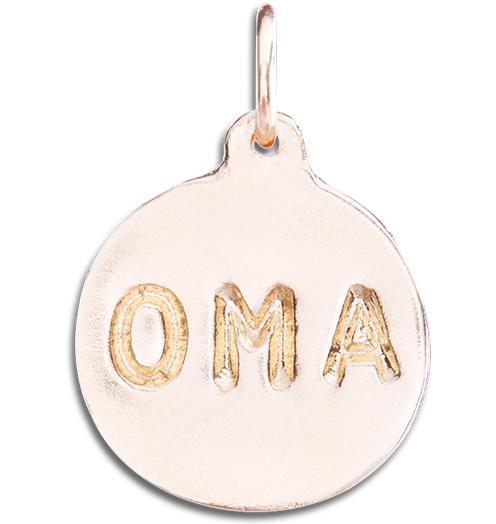 """Oma"" Disk Charm - 14k Pink Gold - Jewelry - Helen Ficalora - 3"
