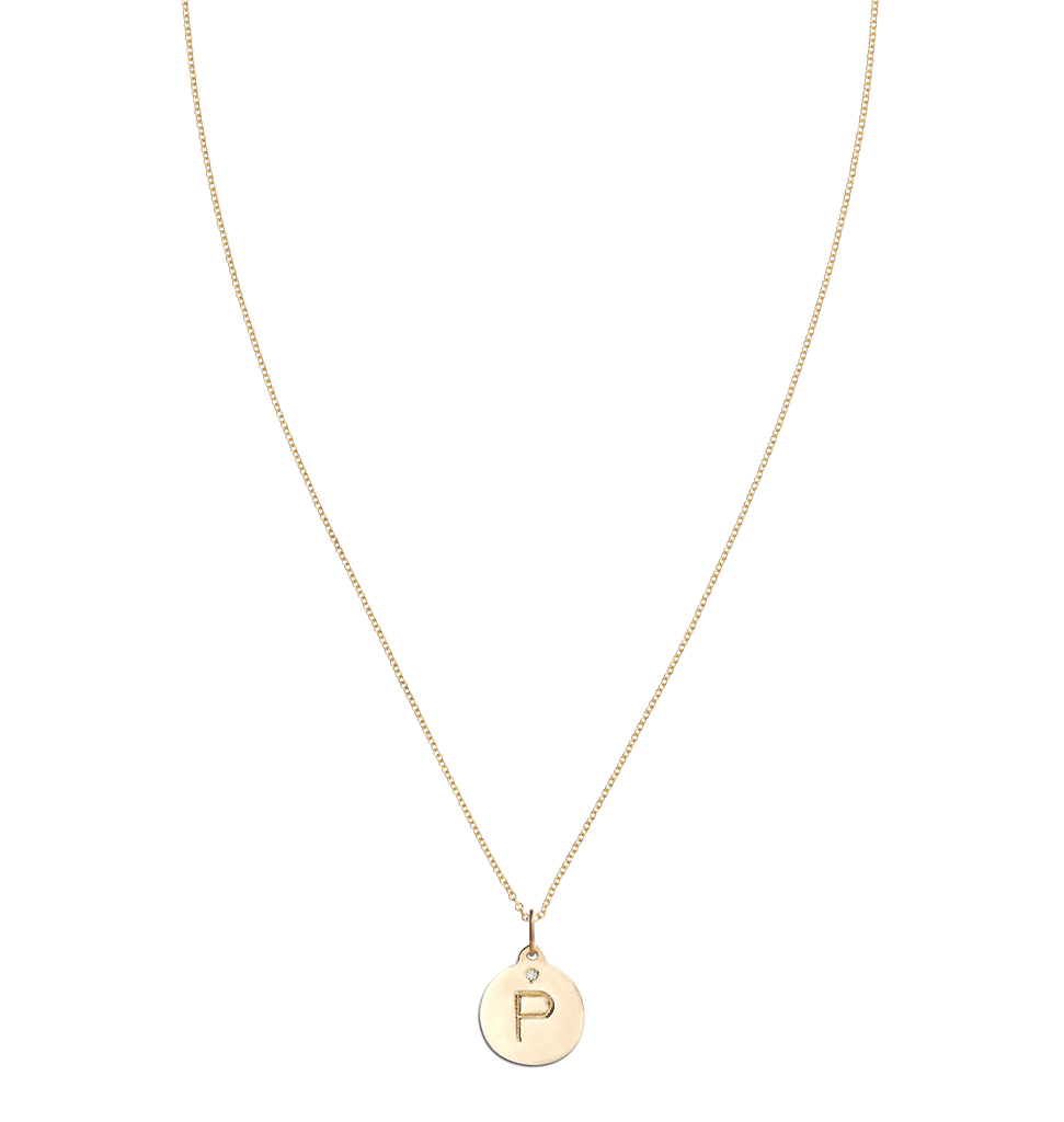 """P"" Alphabet Charm With Diamond -  - Jewelry - Helen Ficalora - 5"