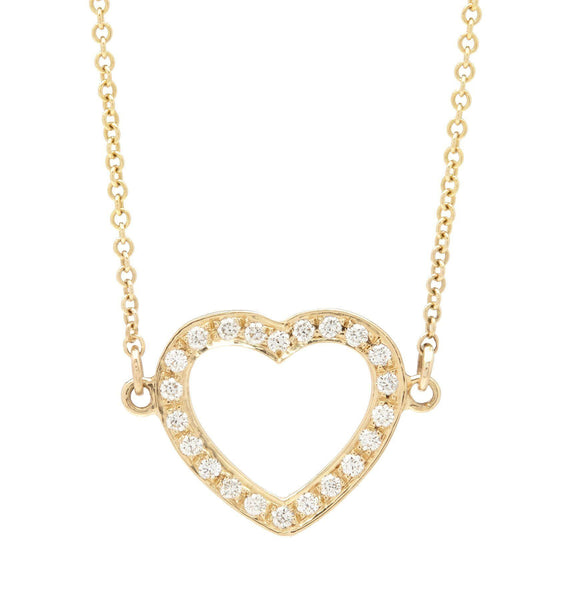 Jewelry - Pave Heart Necklace