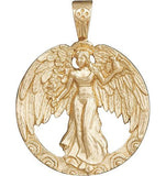 Peace Angel Charm - 14k Yellow Gold - Jewelry - Helen Ficalora - 1
