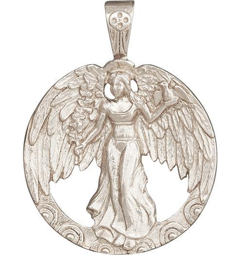 Peace Angel Charm - 14k White Gold - Jewelry - Helen Ficalora - 2
