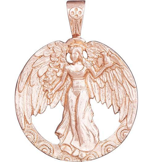 Peace Angel Charm - 14k Pink Gold - Jewelry - Helen Ficalora - 3