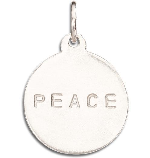 """Peace"" Disk Charm - 14k White Gold - Jewelry - Helen Ficalora - 2"