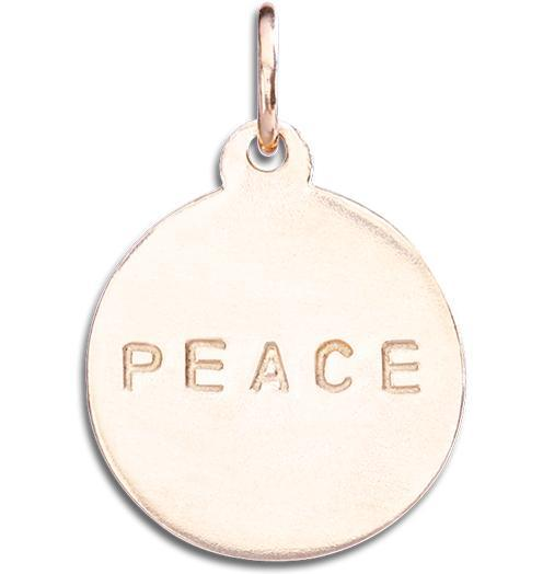 """Peace"" Disk Charm - 14k Pink Gold - Jewelry - Helen Ficalora - 3"