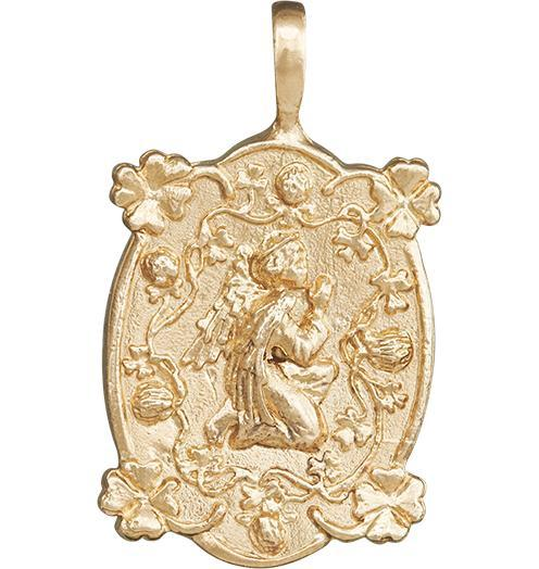 Prosperity Angel Charm - 14k Yellow Gold - Jewelry - Helen Ficalora - 1