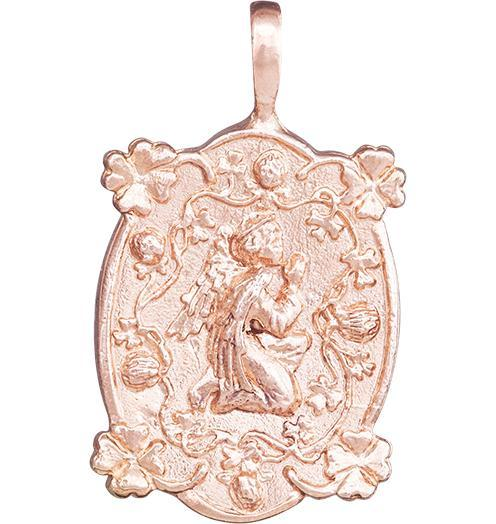 Prosperity Angel Charm - 14k Pink Gold - Jewelry - Helen Ficalora - 3