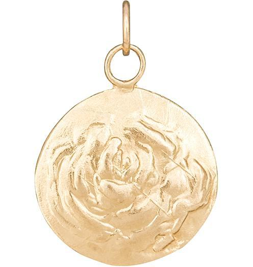 Rose Repouss̩e Charm - 14k Yellow Gold - Jewelry - Helen Ficalora - 1