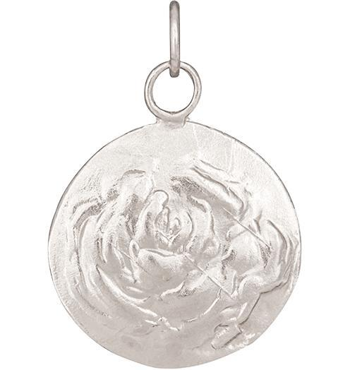 Rose Repouss̩e Charm - 14k White Gold - Jewelry - Helen Ficalora - 2