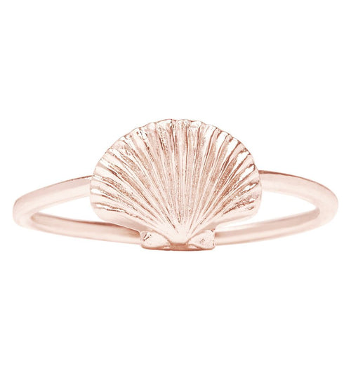 Scallop Shell Stacking Ring Jewelry Helen Ficalora 14k Pink Gold 6
