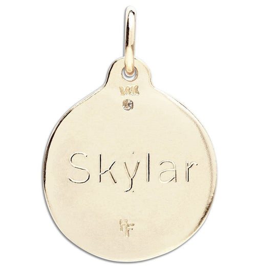 """Sigma Kappa"" Disk Charm Jewelry Helen Ficalora For Necklaces And Bracelets"