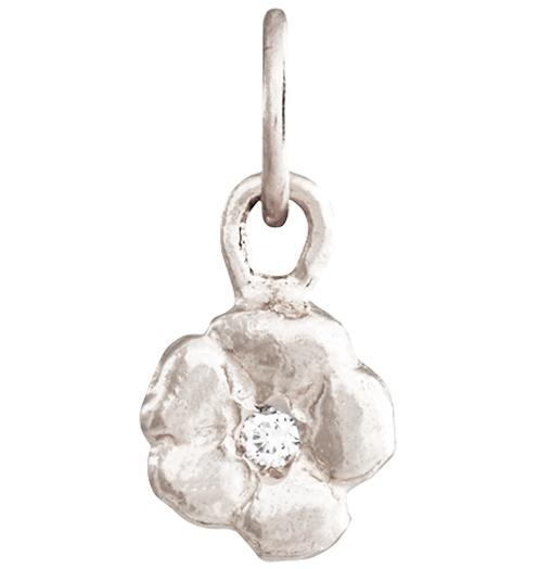 Small cherry blossom flower charm with diamond helen for Gemsprouts tiny plant jewelry